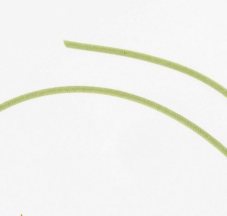 Stofbetrukket ledning, grøn