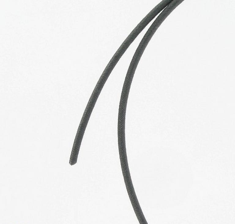 Stofbetrukket ledning, sort