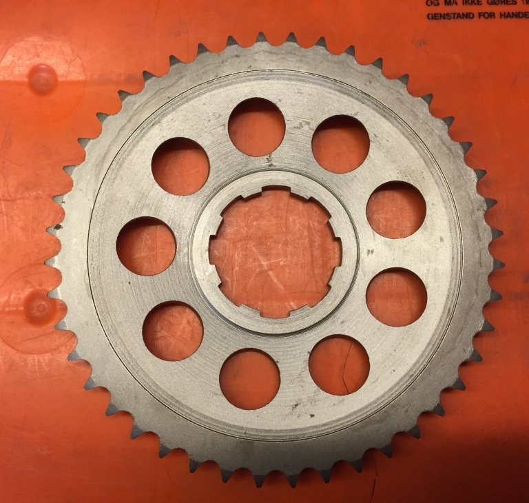#R2045-25 Kædehjul for baghjul