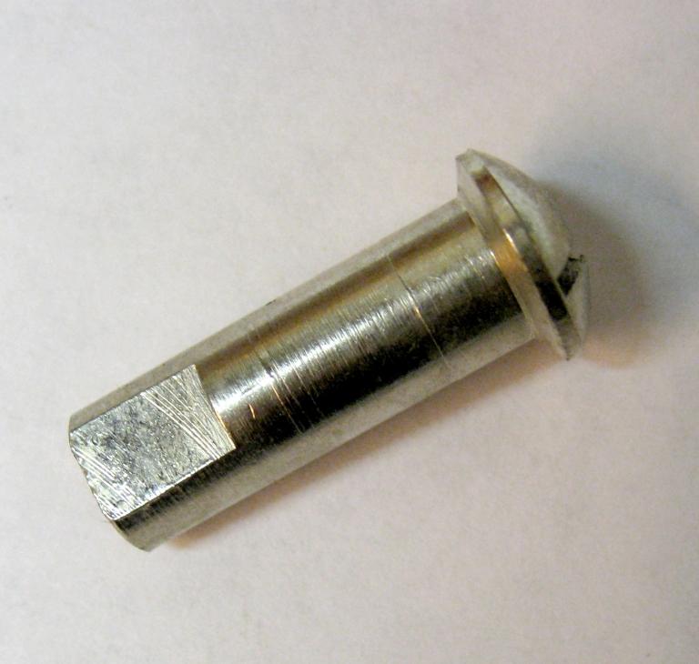 """3,6 mm nippel, høj, Ø6,4mm, ¼"""""""
